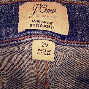 JCrew Vintage Straight Jeans Size 29